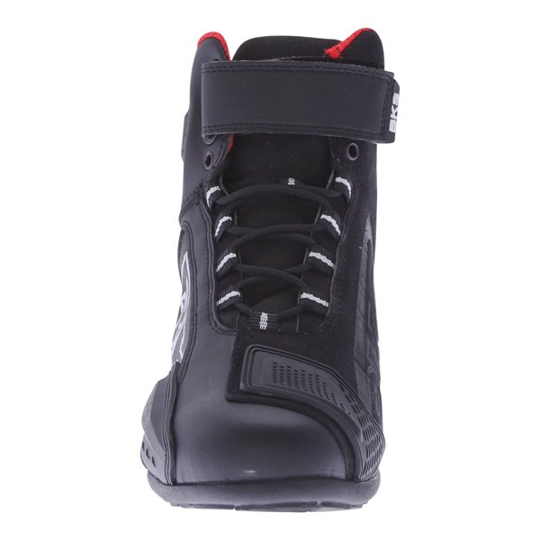 BKS SN-05 Short Black Motorcycle Boots Front