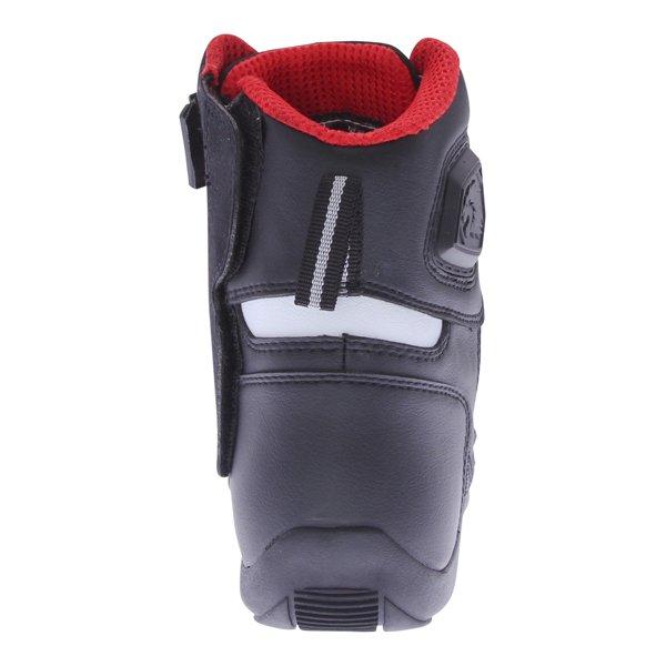 BKS SN-05 Short Black Motorcycle Boots Heel