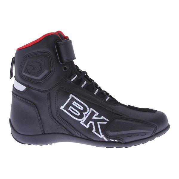 BKS SN-05 Short Black Motorcycle Boots Outside leg