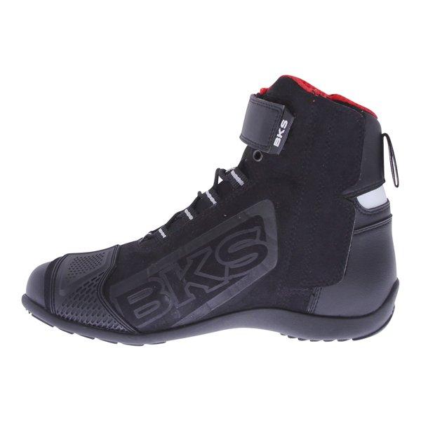 BKS SN-05 Short Black Motorcycle Boots Inside leg