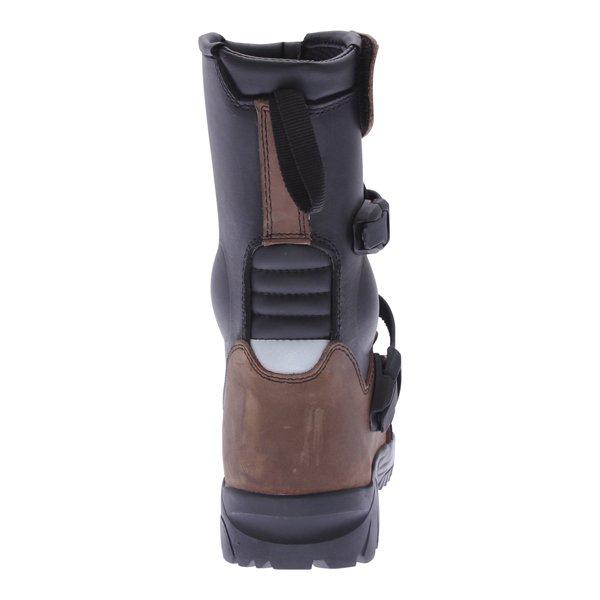 BKS PS-038W Short Brown Adventure Motorcycle Boots Heel