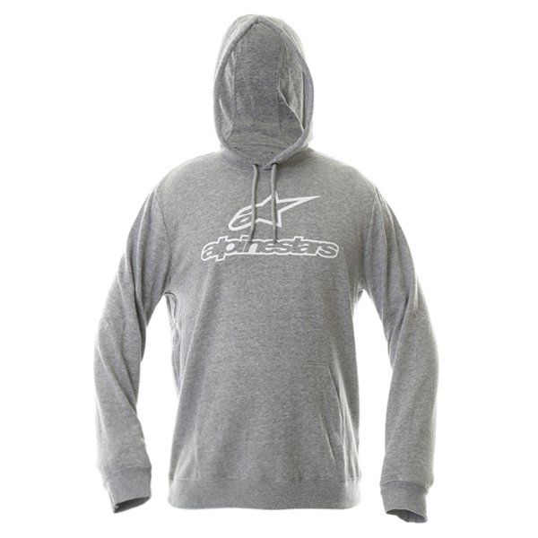 Alpinestars Always Mens Grey Heather Fleece Hoodie Front