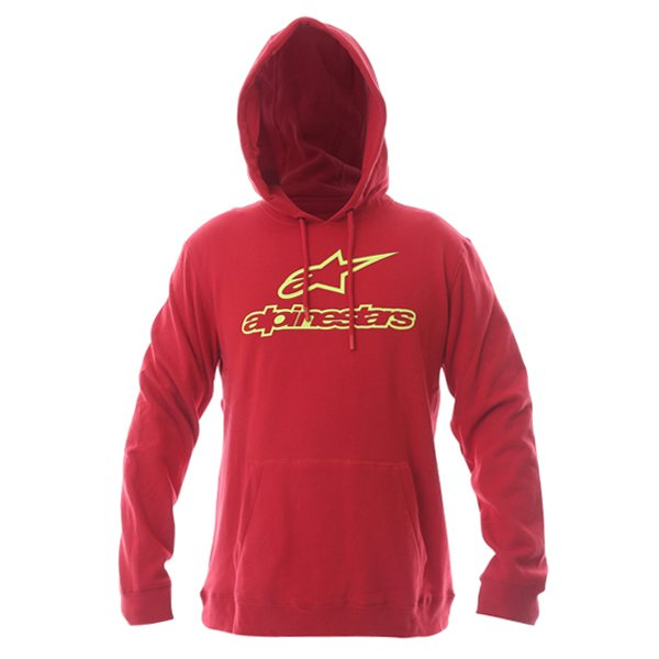 Alpinestars Always Mens Red Fleece Hoodie Front