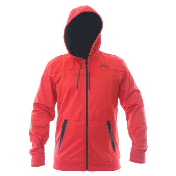 Alpinestars Freeride Mens Red Fleece Hoodie Front