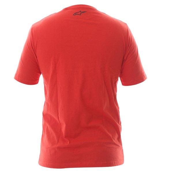 Alpinestars Ageless Tech Mens Red T-Shirt Back