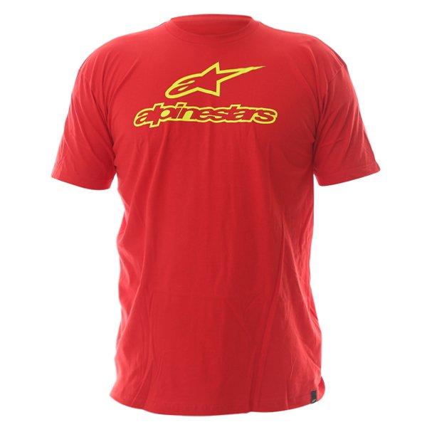 Alpinestars Always Mens Red T-Shirt Front