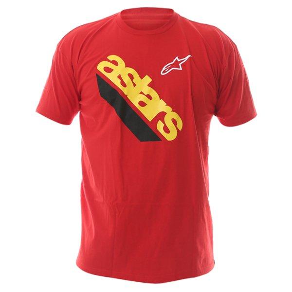 Alpinestars Cut Mens Red T-Shirt Front