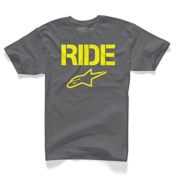 Alpinestars Ride Solid Mens Charcoal T-Shirt Front