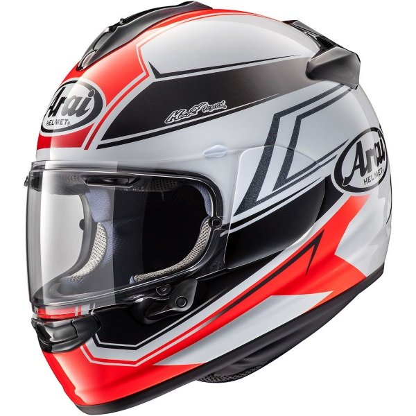 Arai Chaser-X Shaped Grey Red Black Full Face Motorcycle Helmet Left Side
