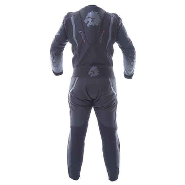 BKS Evolution Pro Black Leather 1-Piece Motorcycle Suit Back