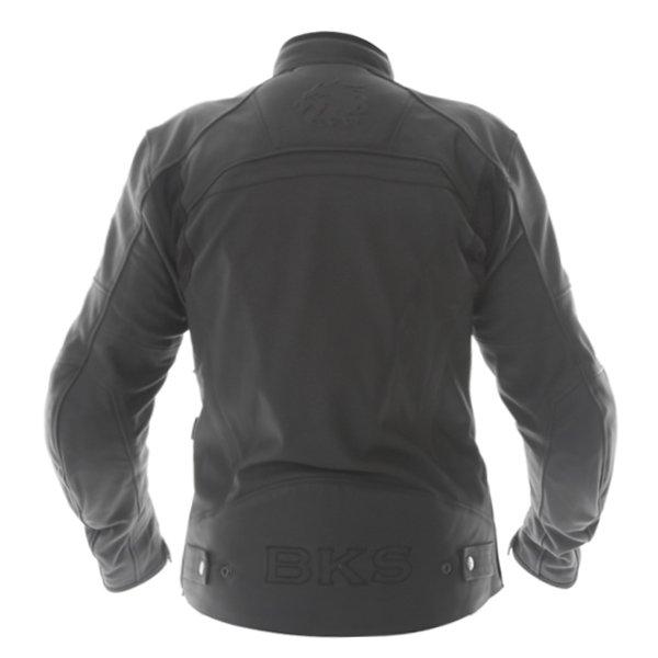 BKS Shadow Black Leather Motorcycle Jacket Back