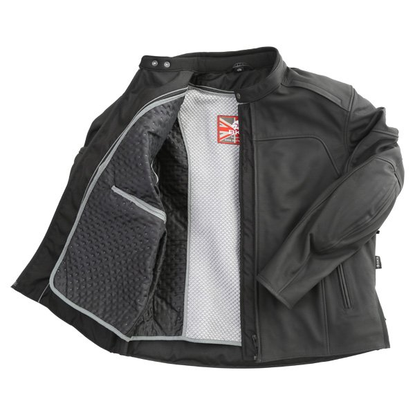 BKS Shadow Black Leather Motorcycle Jacket Inside