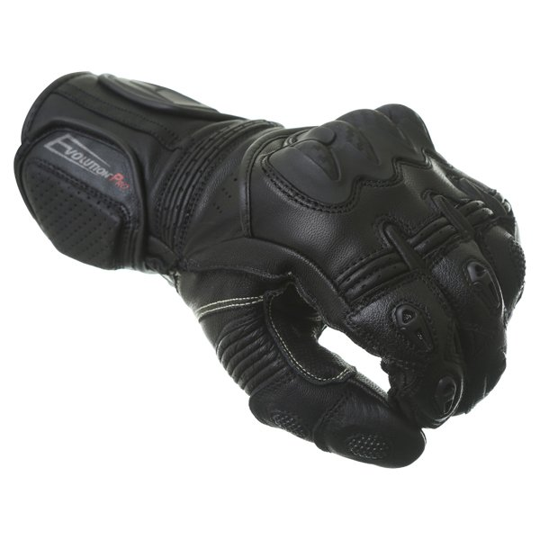 BKS Evolution Pro Race Black Motorcycle Glove Knuckle