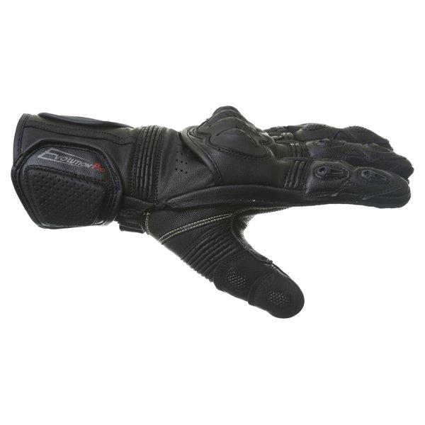 BKS Evolution Pro Race Black Motorcycle Glove Thumb side