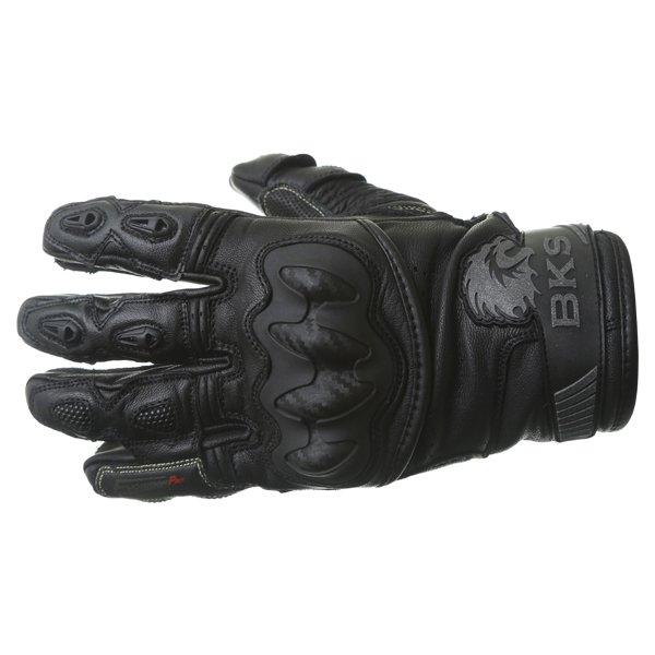 BKS Evolution Pro Short Black Motorcycle Glove Back