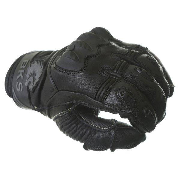 BKS Evolution Pro Short Black Motorcycle Glove Knuckle
