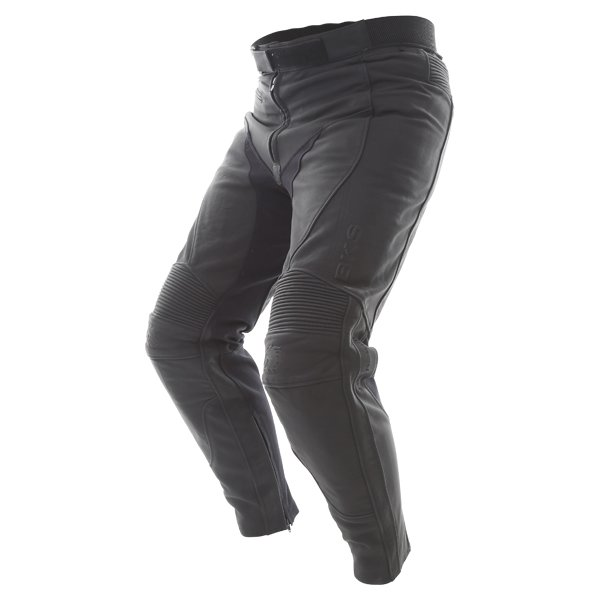 BKS Shadow Ladies Black Leather Motorcycle Jeans Riding crouch