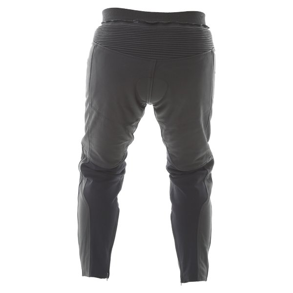BKS Shadow Ladies Black Leather Motorcycle Jeans Rear