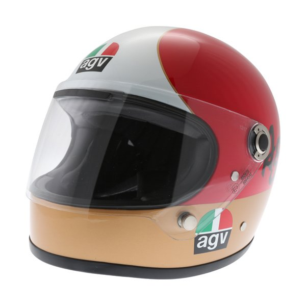 AGV X3000 AGO 01 Green White Red Full Face Motorcycle Helmet Front Left