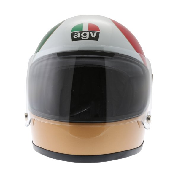 AGV X3000 AGO 01 Green White Red Full Face Motorcycle Helmet Front