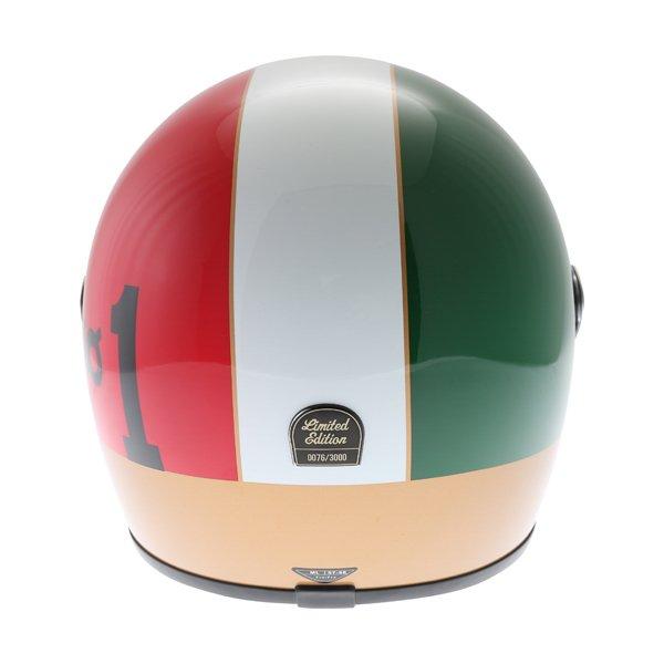 AGV X3000 AGO 01 Green White Red Full Face Motorcycle Helmet Back