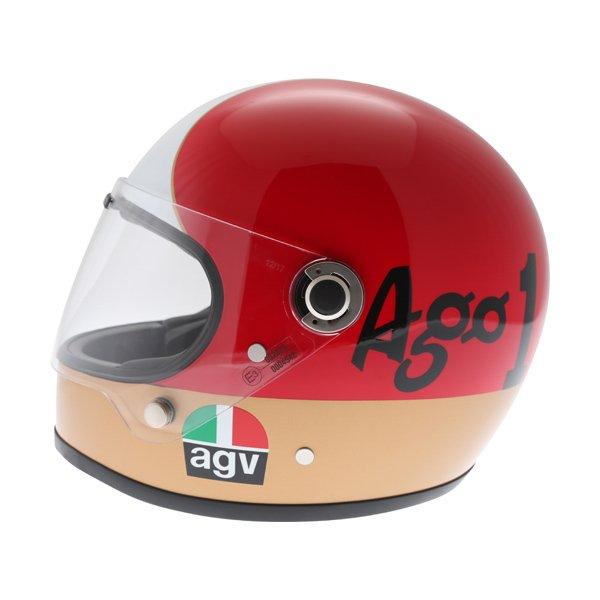AGV X3000 AGO 01 Green White Red Full Face Motorcycle Helmet Left Side