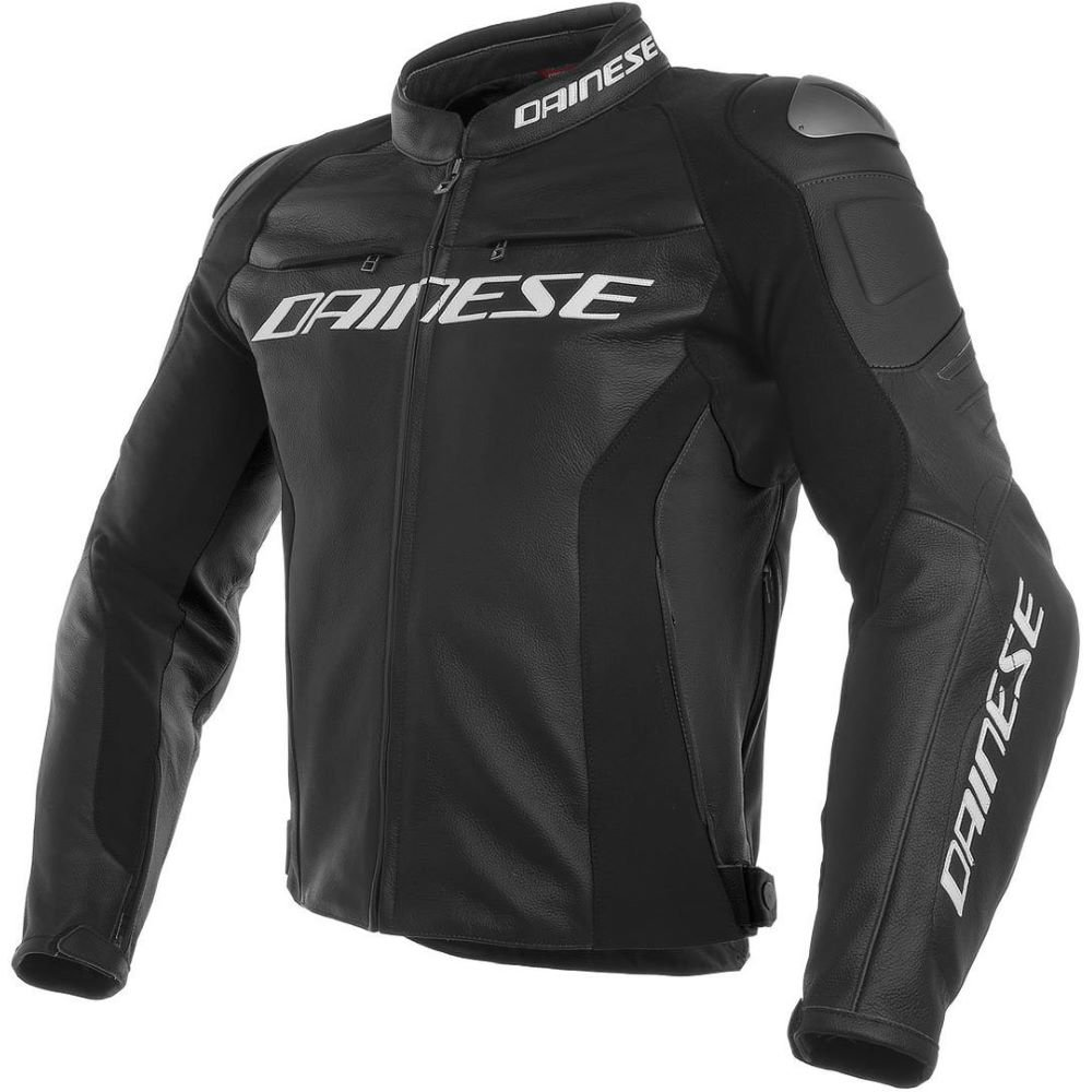 Dainese Racing 3 Leather Jacket Black Black