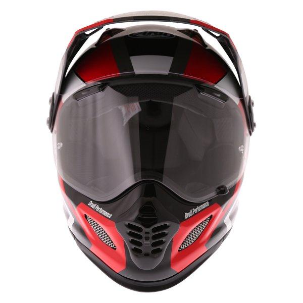 Arai Tour-X4 Catch Red Adventure Motorcycle Helmet Front