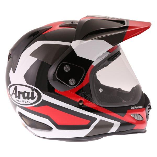 Arai Tour-X4 Catch Red Adventure Motorcycle Helmet Right Side