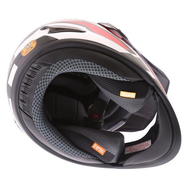 Arai Tour-X4 Catch Red Adventure Motorcycle Helmet Inside