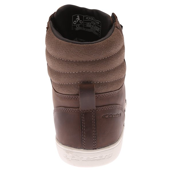 Alpinestars J-6 Brown Waterproof Motorcycle Shoe Heel