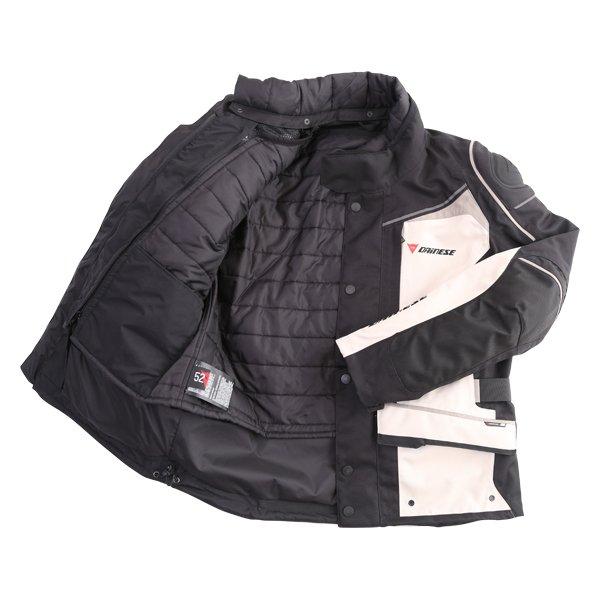 Dainese D-Blizzard D-Dry Peyote Black Brindle Waterproof Motorcycle Jacket Inside
