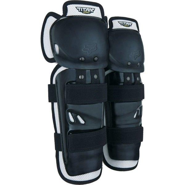Fox Titan Sport Black CE Knee-Shin Guards