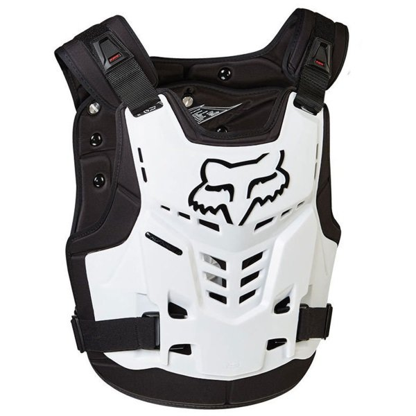 Fox Proframe White CE Back and Chest Protector Front
