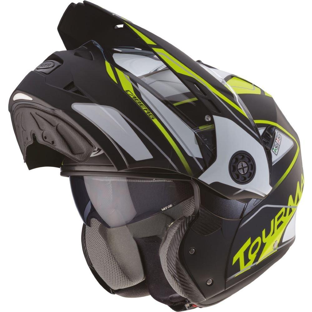 Caberg Tourmax Marathon Helmet Matt Black White Yellow Size: M