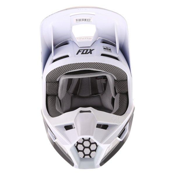 Fox V1 Przm Black White Motocross Helmet Front