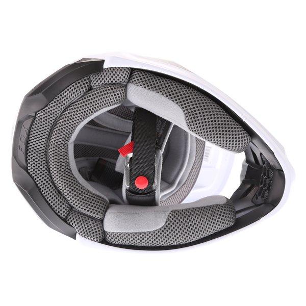 Fox V1 Przm Black White Motocross Helmet Inside