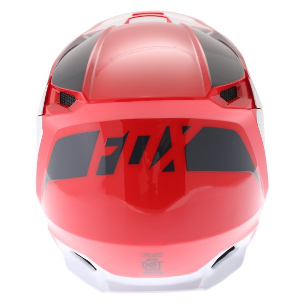 Fox V1 Przm Navy Red Motocross Helmet Back