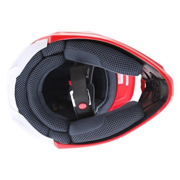 Fox V1 Przm Navy Red Motocross Helmet Inside