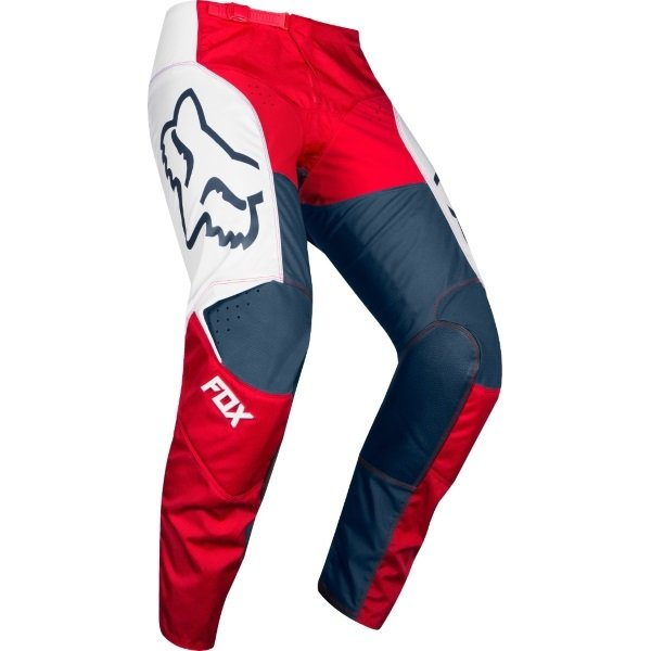 Fox 180 Przm Navy Red Motocross Pants Riding position