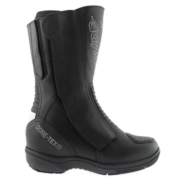 Daytona Lady Star Goretex Ladies Black Waterproof Motorcycle Boots Outside leg