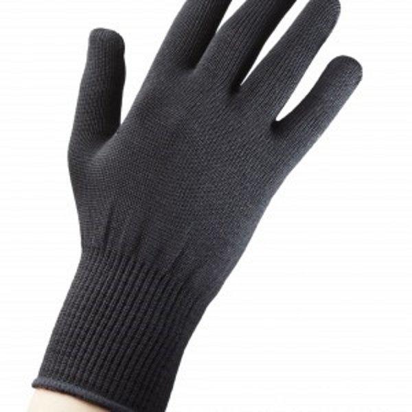Silk Liner Glove Black Inner Gloves