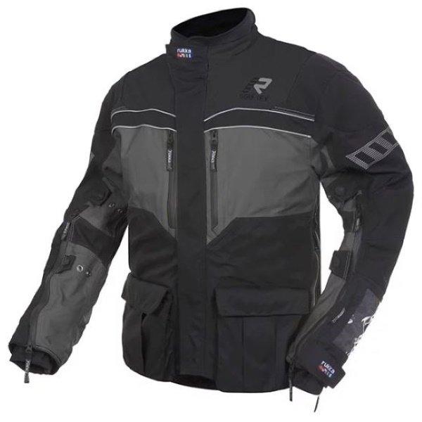 Overpass Jacket Black Grey Rukka Clothing