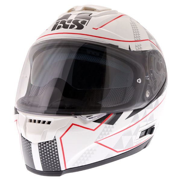 HX215 Triangle Helmet White Black Silver