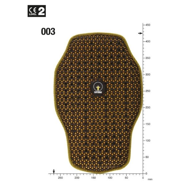 Forcefield Pro Back Insert L2 Size: SHAPE 1
