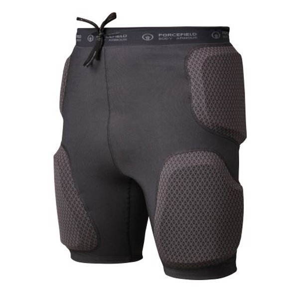 Force Field Black Action Shorts Sport Armour