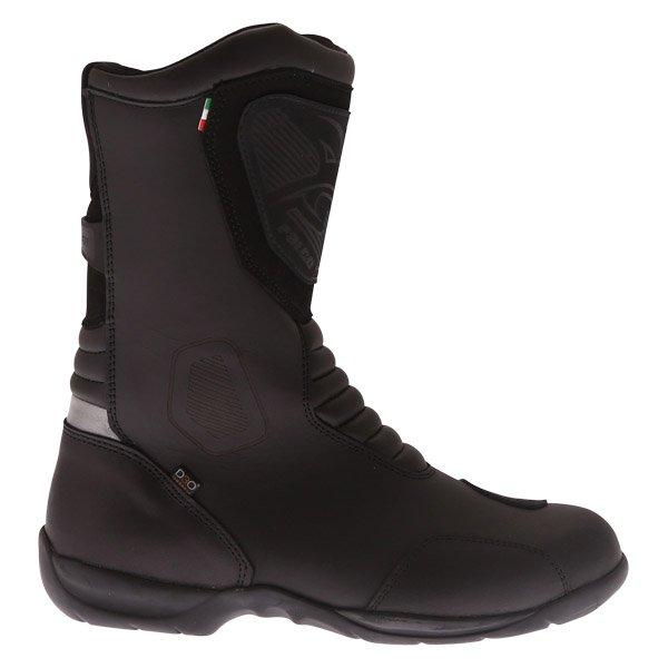 Falco Kodo 2 1 Black Motorcycle Boots Outside leg