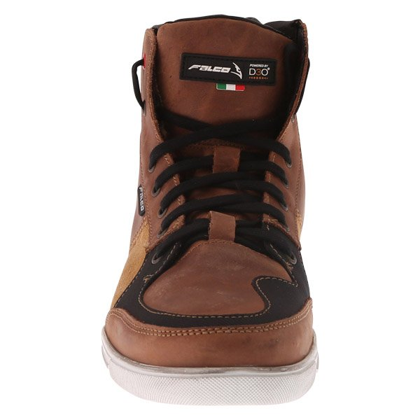 Falco Shiro 2 Brown Motorcycle Boots Front