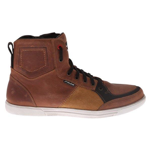 Falco Shiro 2 Brown Motorcycle Boots Outside leg