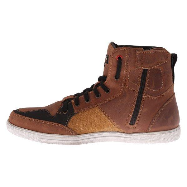 Falco Shiro 2 Brown Motorcycle Boots Inside leg